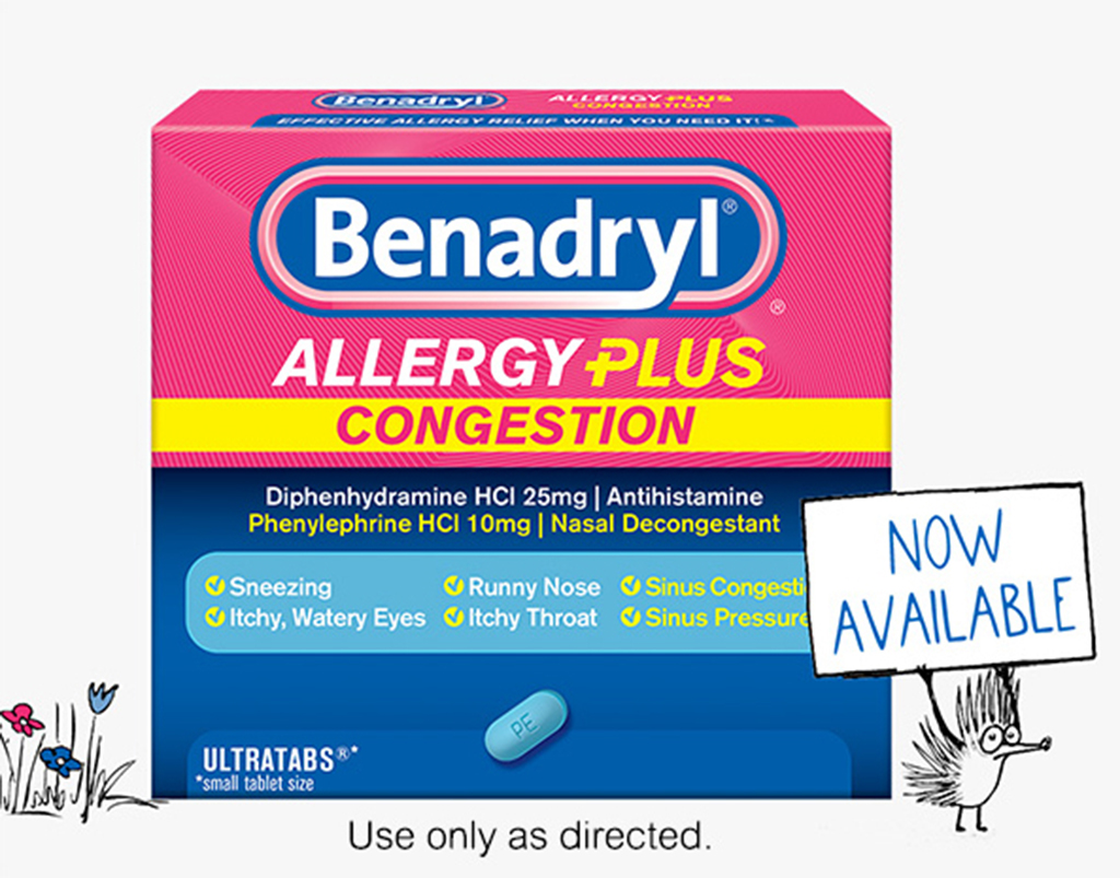 picture regarding Benadryl Printable Coupon titled Allergy Itch Reduction Prescription drugs for Older people Little ones BENADRYL®