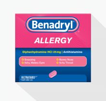 BENADRYL® Allergy ULTRATABS® Tablets