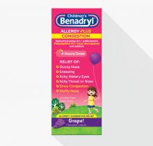 Children's BENADRYL® Allergy Plus Congestion