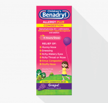 Children's BENADRYL® Allergy Plus Congestion