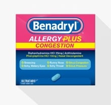 BENADRYL® Allergy Plus Congestion tablets