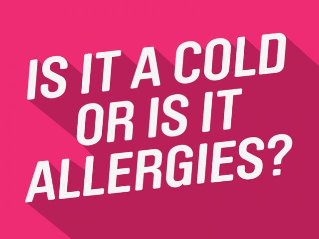 Allergies vs Cold